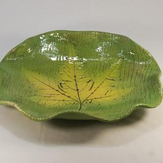 Блюдо керамическое декоративное, фруктовница.