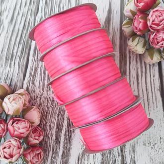 Стрічка атласна темно-рожевий 0,3 см (91 метр)