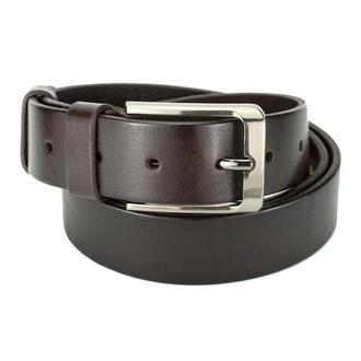 Ремень мужской кожаный темно-коричневый JK-3566 (130 см) Brown