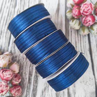 Стрічка атласна синій 0,3 см (91 метр)