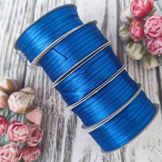Лента атласная синий  0,3 см (91 метр)