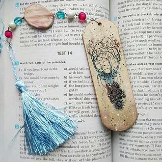 Деревянная закладка для книг