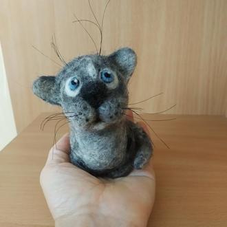 Валяная игрушка котенок