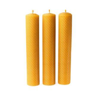 Набір з 3 великих ЕКО натуральних Гіпоалергенних  свічей для оригінального подарунку та декору