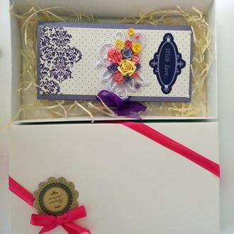 Представительные открытки  в подарочных коробочках