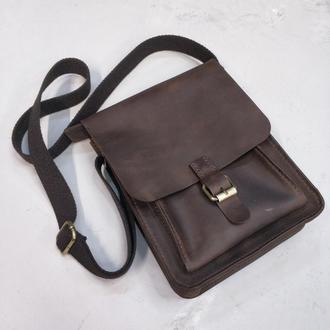 Мужская кожаная сумка stedley B002