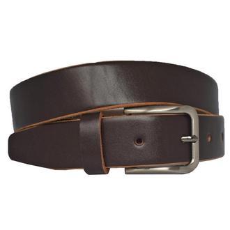 Кожаный мужской ремень темно-коричневый Vendor777