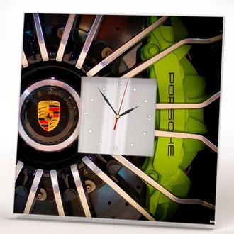 """Стильные настенные часы """"Porsche. Порше"""""""