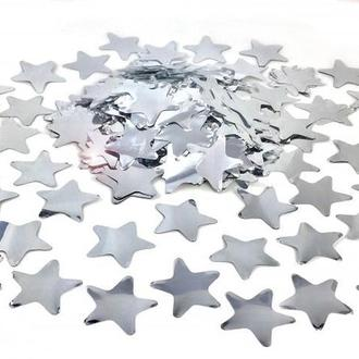 Конфетти звездочки серебро 50г