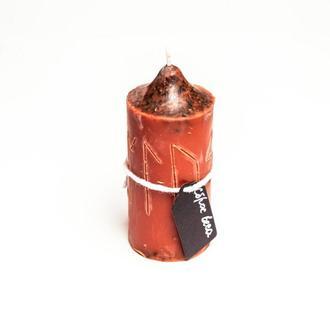 Свеча-програмная для сброса веса ярко-красно-оранжевый цилиндр