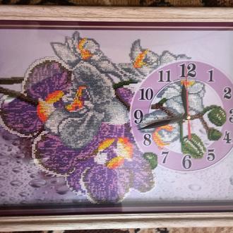 Часы Орхидеи Вышитые Бисером