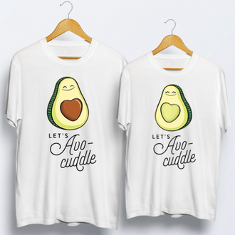Одинаковые футболки парные авокадо