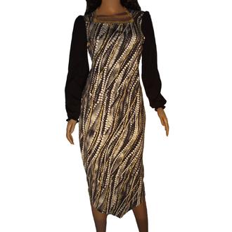 Платье с искрящимися камнями (хлопок, стрейч)