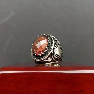Красиве кільце з каменем Султанит Хамелеон Діаспор Ручна Авторська робота ювелірна