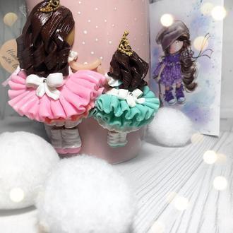 Чашечка для сестричек , чашка дочери на подарок или подруге