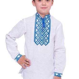 Рубашка для мальчика Млад (лен белый)