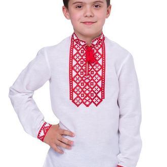 Сорочка для хлопчика Млад з червоною вишивкою