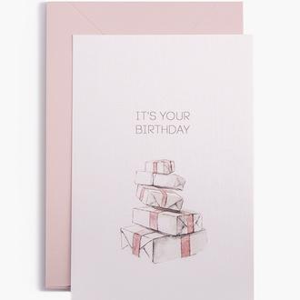 """Открытка """"It's your birthday"""""""