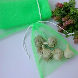 Эко мешочек из сетки 18*22, эко торбочка, еко пакет для продуктов, еко мішок із сітки
