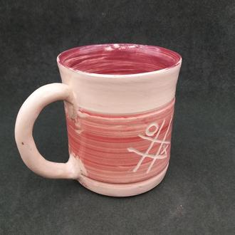 чашка из глины.