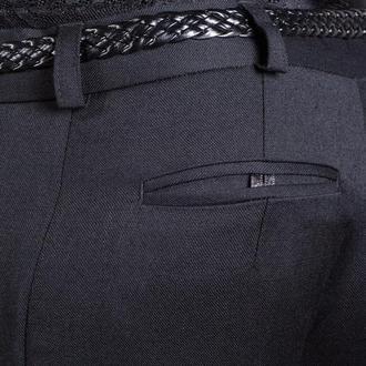 Брюки женские  черные шерстяные с карманами.