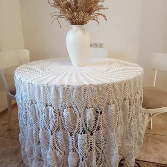 Скатерть на круглый стол. Вязание. Уютный предмет интерьера.