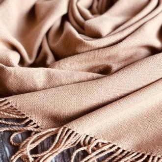 Тканый шарф бежевого цвета