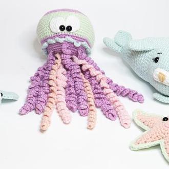 Морские обитатели. Морские игрушки. Медуза, тюлень, черепашка, морская звезда