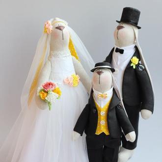 """Свадебные зайки """"Цветок лотоса"""""""