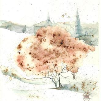 Кофейное дерево. 2021г.  Автор - Мишарева Наталья