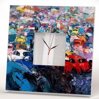 """Настінні незвичайні авторські годинник """"Звалище машин"""""""