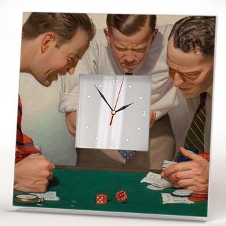 """Оригінальні годинник з вінтажним малюнком """"Казино"""""""