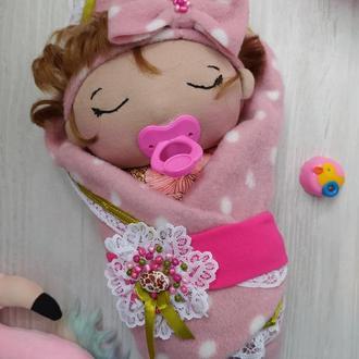 куколка малышка младенец с соской