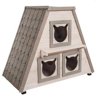 Деревянный домик для котиков, кошек и котят