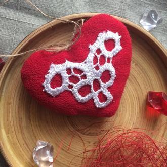 Сердечко валентинка з тканини, презент