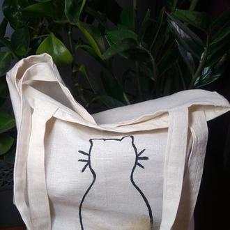 Єко-сумка,шопер с котом