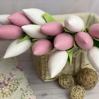 Тюльпан/Тюльпаны/Текстильные тюльпаны/Тюльпан тильда/Букет тюльпанов