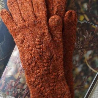 Женские перчатки. Удлиненные перчатки. Зимние перчатки