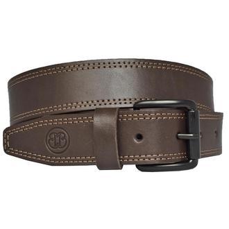 Ремень мужской кожаный коричневый прошитый для джинсов Craft