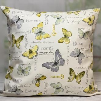 Декоративна наволочка, декоративна подушка, Інтер'єрна подушка, Подушка метелики