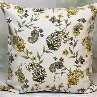 Декоративная наволочка, Декоративная подушка, Интерьерная подушка, Подушка цветы, Подушка терасса