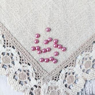 Полубусины розовые пастельные 8 мм, 20 г