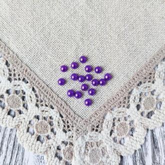 Полубусины фиолетовые 8 мм, 20 г