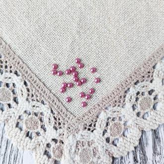 Полубусины розовые пастельные 6 мм, 20 г