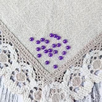 Полубусины фиолетовые 6 мм, 20 г