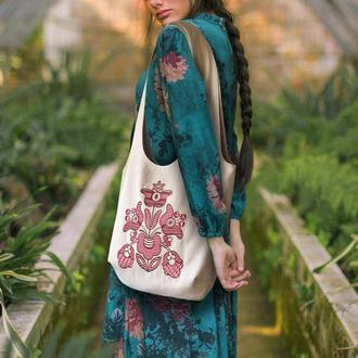 Еко сумка Handmade c вышивкой