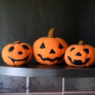 Набор из трёх мини - тыкв к Хеллоуину