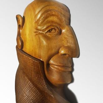 """Деревянный сувенир, маска """"У стен есть уши"""". Эксклюзив"""