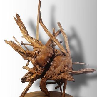 """Ексклюзивна скульптура із кореня дерева """"Молодість і Старість"""""""
