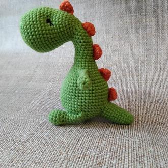 Динозаврик, динозавр в'язаний